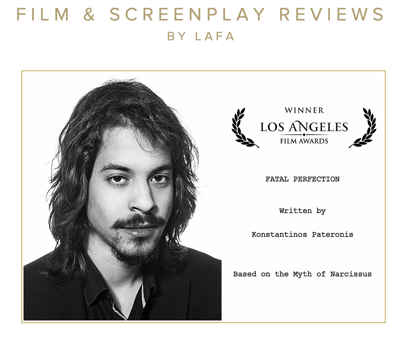 Los Angeles Film Awards Screenplay Review - Fatal Perfection