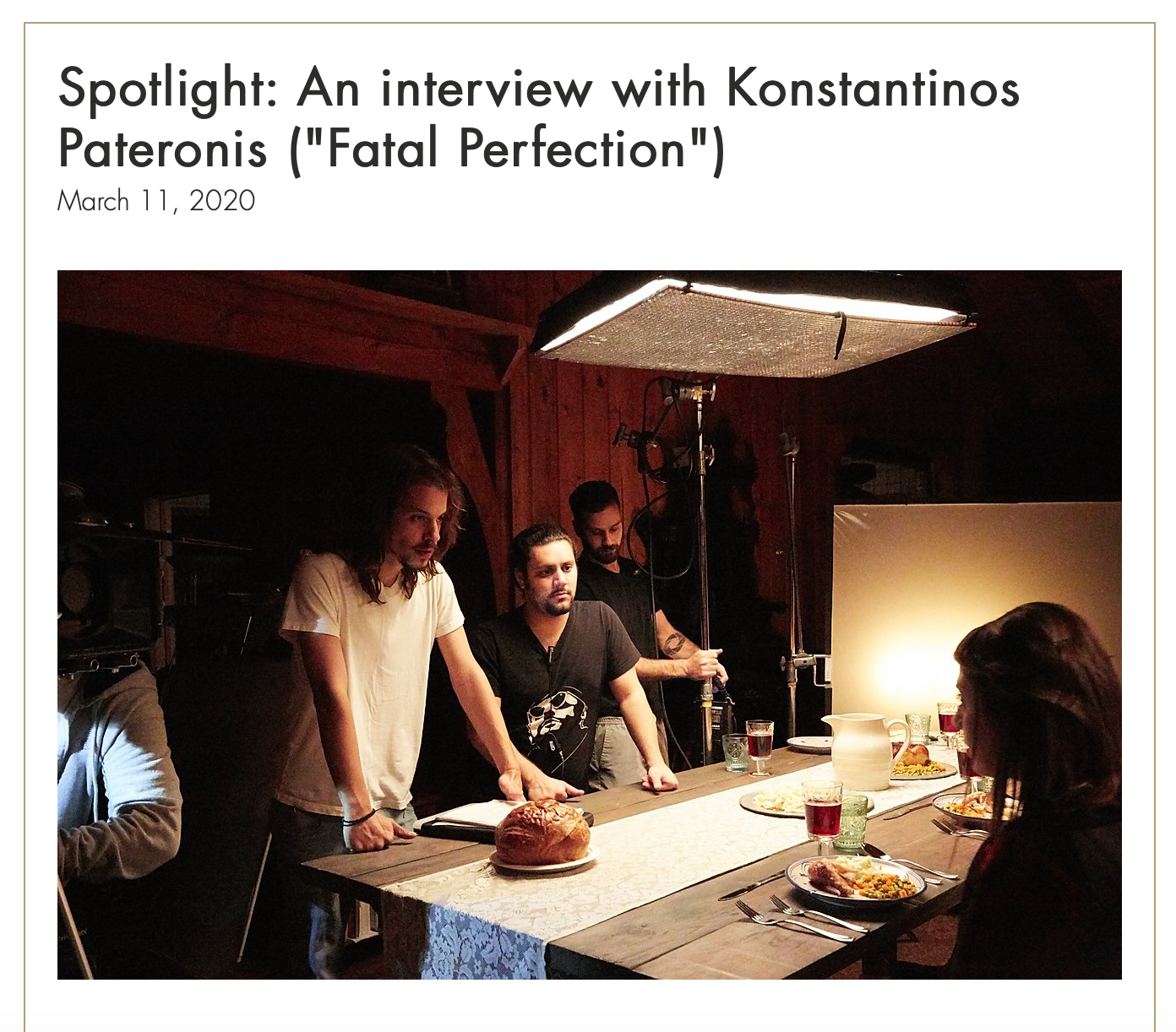 Los Angeles Film Awards Interview - Fatal Perfection (March 11, 2020)